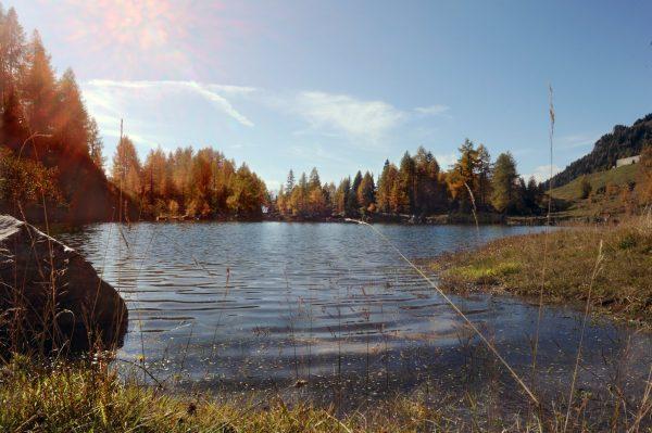 Il lago Bordaglia d'Autunno – foto di Gigliola Di Piazza –